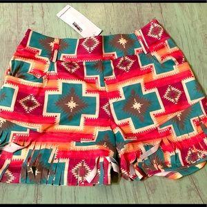 New Crazy Train fringe shorts, medium
